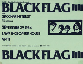 Black Flag, Saccharine Trust, Tom Troccoli's Dog Flyer