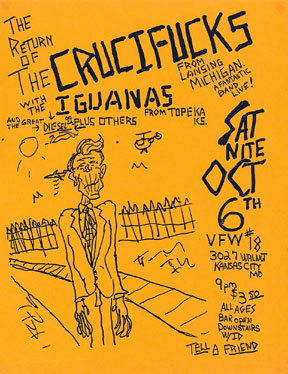 Oct 6th Crucifucks show at the VFW#18 in KC, MO (sans creeps)