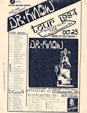 Dr. Know at The VFW#18 in KC, MO 10-23-84