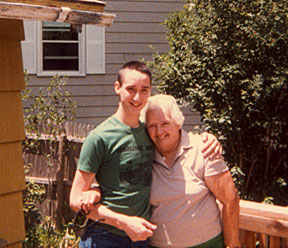 Jason (in Marginal Man shirt) and his Grandma (not in Marginal Man shirt). July, 1985