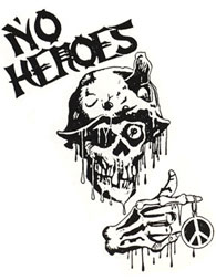 No Heroes sticker