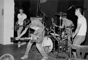 Micronotz live at the Foolkiller, 1985 (Photo by Phillip Heying)