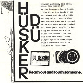 Hüsker Dü Show Review from National Priorities #5